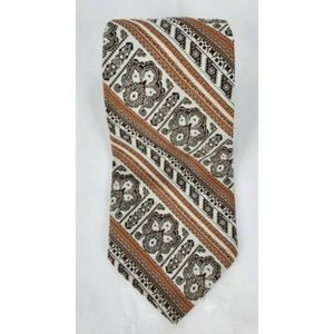 Christian Dior Striped Floral Tie